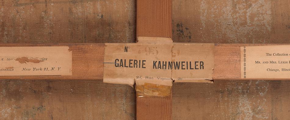 Etiqueta de registro Kahnweiler