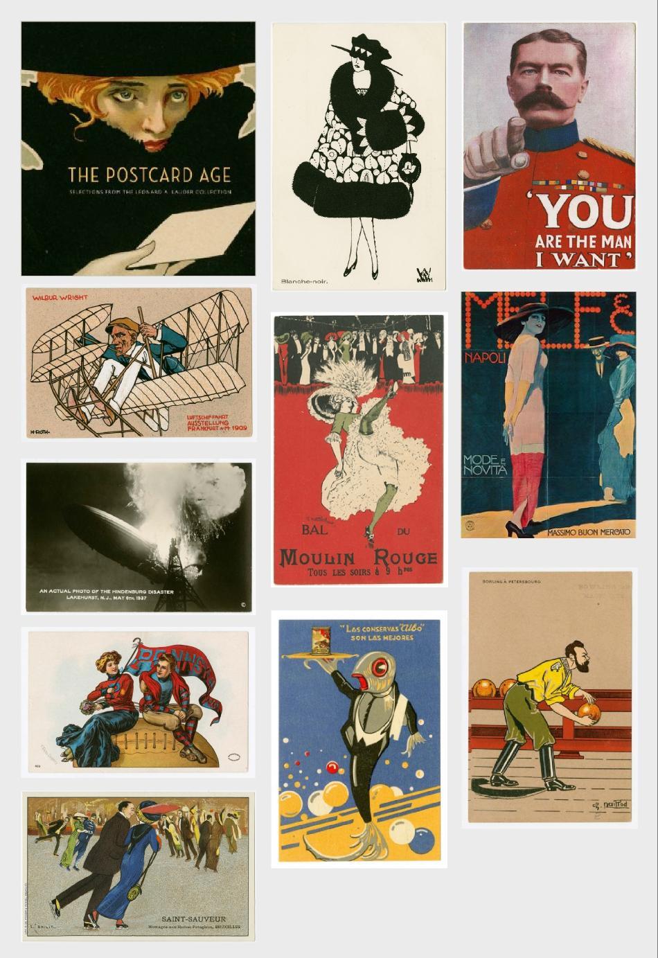 lauder coleccion postales