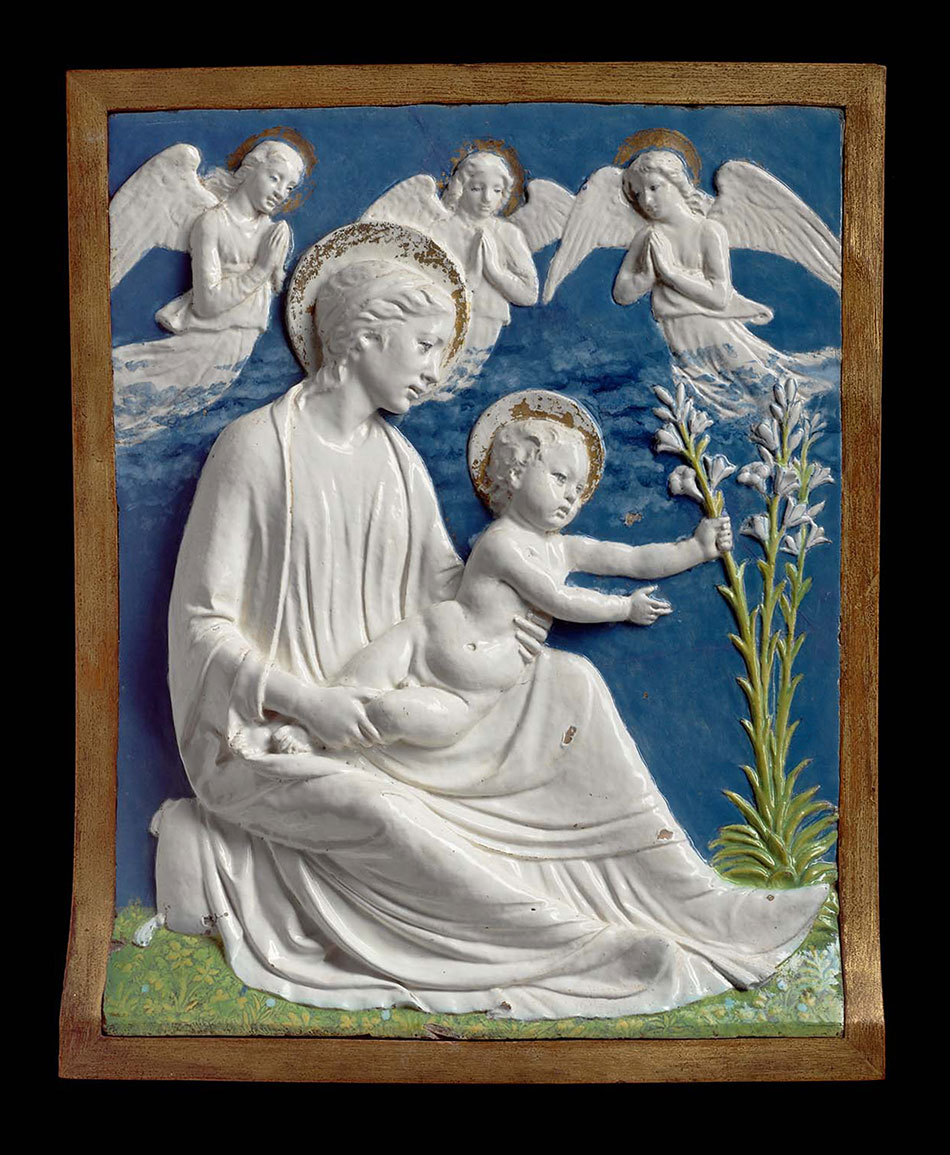 luca-della-robbia_virgin-and-child-with-lilies_w