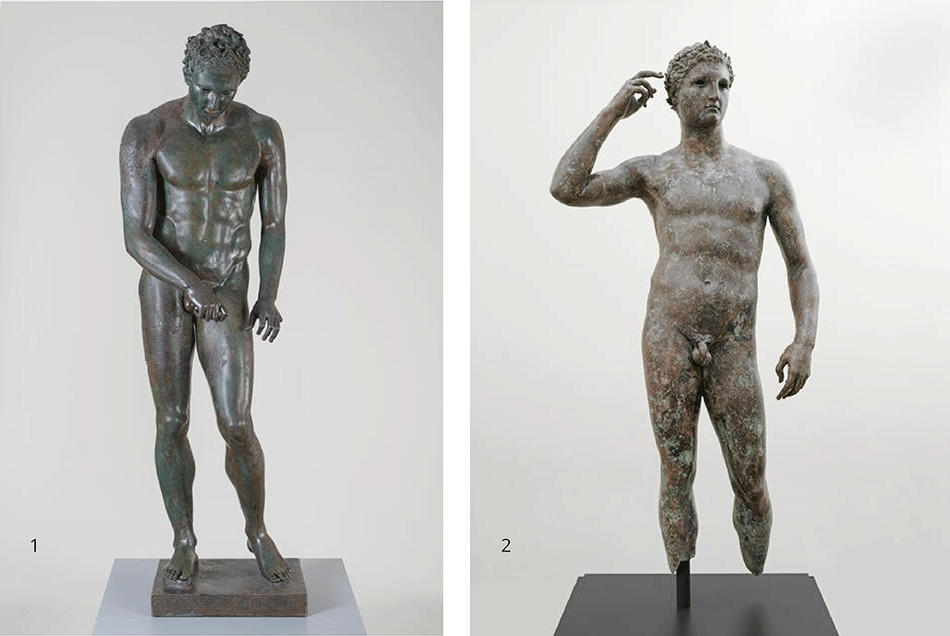power-and-pathos_athlete-the-croatian-apoxyomenos_victorius-athlete-the-getty-bronce