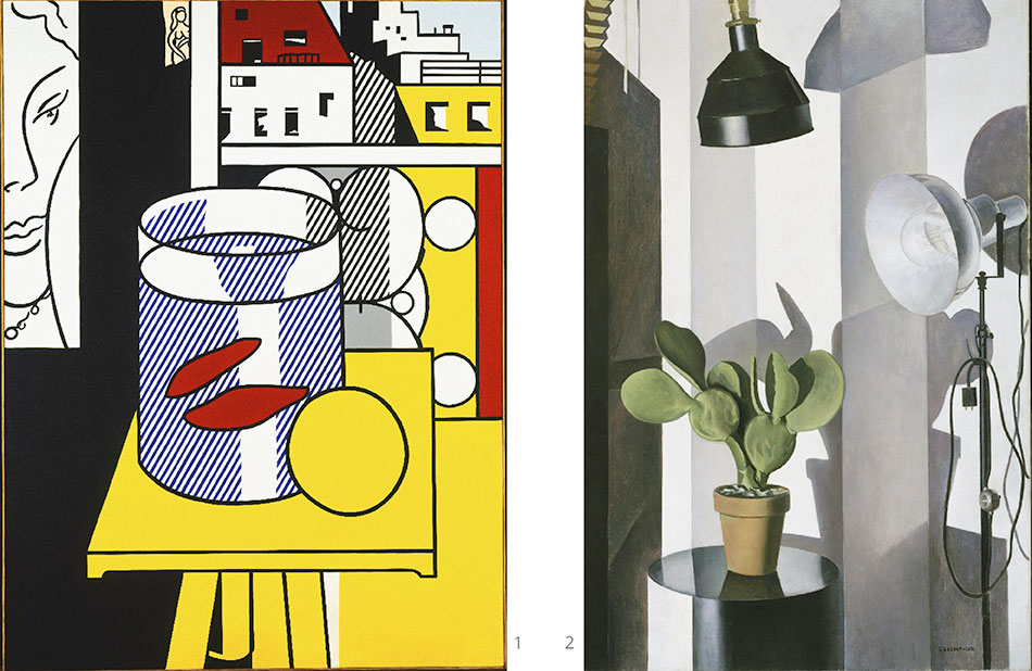 cactus_charles-sheeler__still-life-with-goldfish_roy-lichtenstein__philadelphia-museum-of-art 2