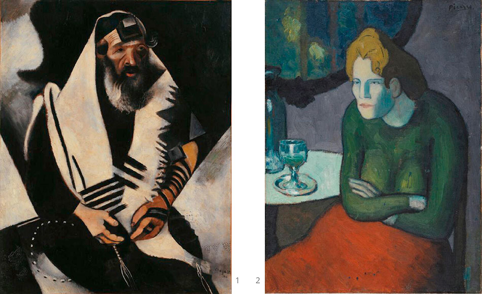 chagall-marc_jew-in-black-and-white_picasso_the-absinthe-drinker