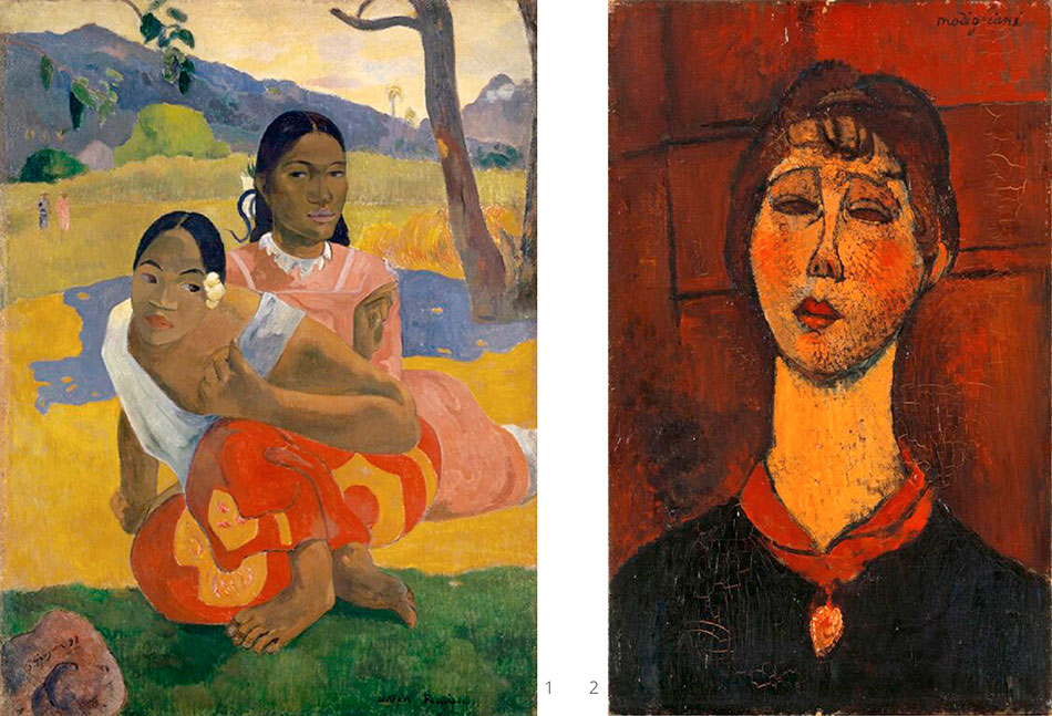 gauguin-paul_nafea-faaipoipo_modigliani-amedeo_portrait-of-mrs.dorival