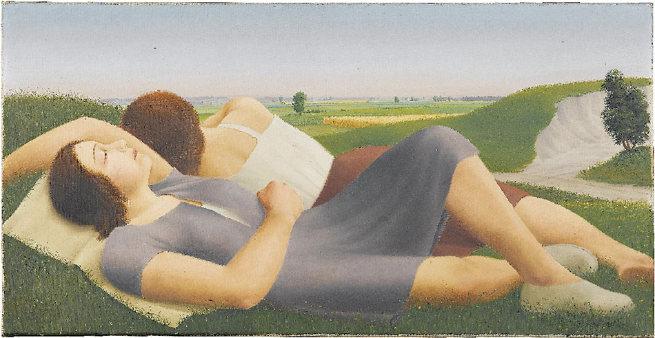 georg-schrimpf_reclining-girls-in-the-countryside