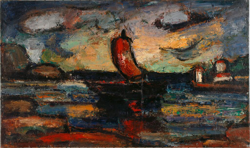 rouault_landscape_with_red_sail