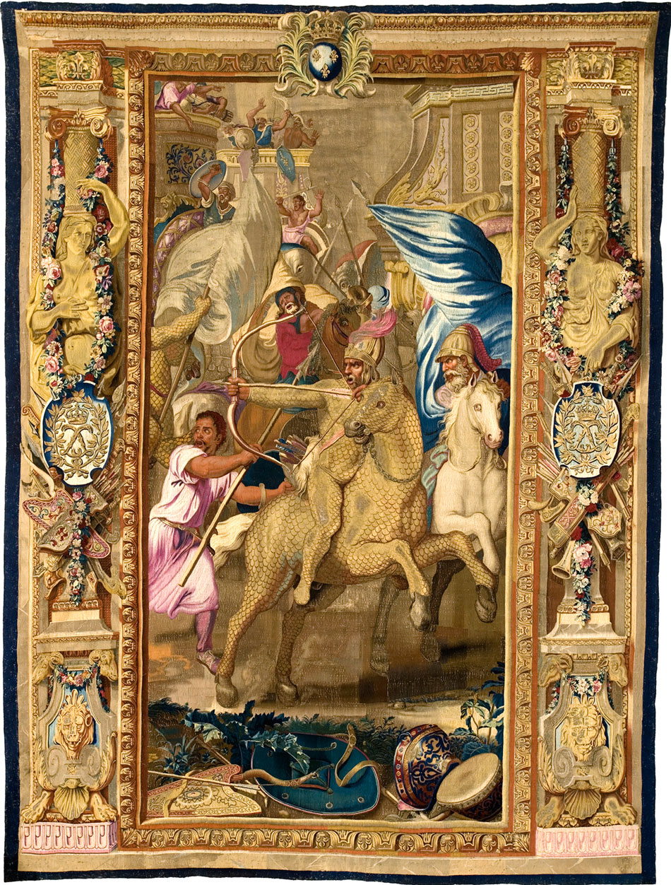 the -battle-of-arbela_woven-gold_tapestries-of-louis-xvi