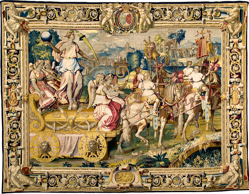 the-chariot-of-triumph-drawn-by-four-piebald-horses_also-known-as- the-golden-chariot_woven-gold_tapestries-of-louis-xvi