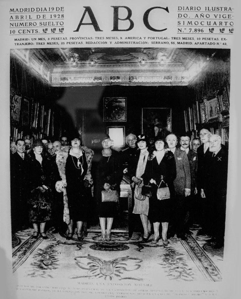 1928 inauguración exposicion goya en el museo