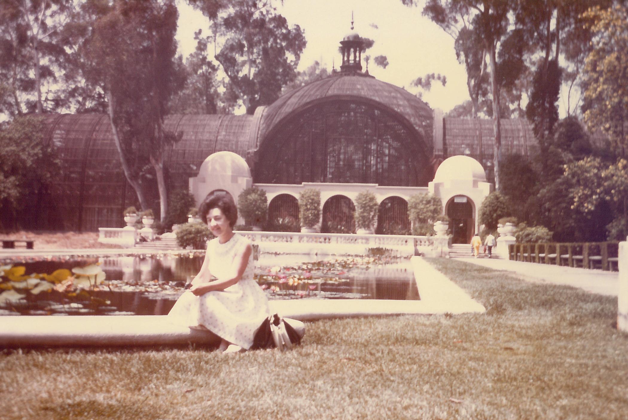 Madeleine Rast at her house garden
