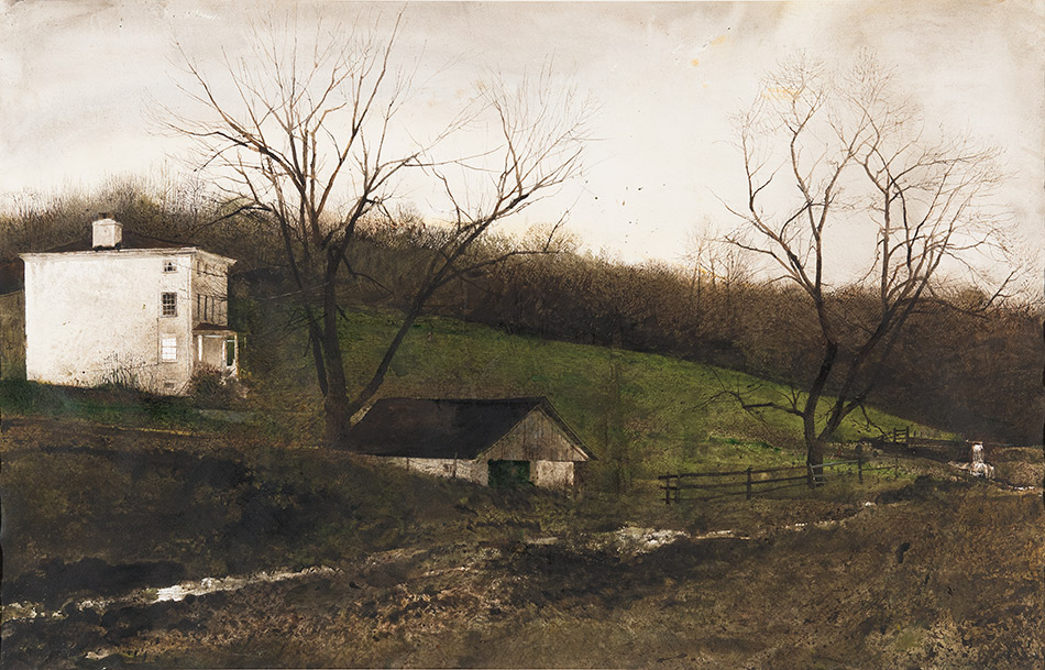 andrew-wyeth_Evening-at-Kuerners,-1970_seattle-art-museum