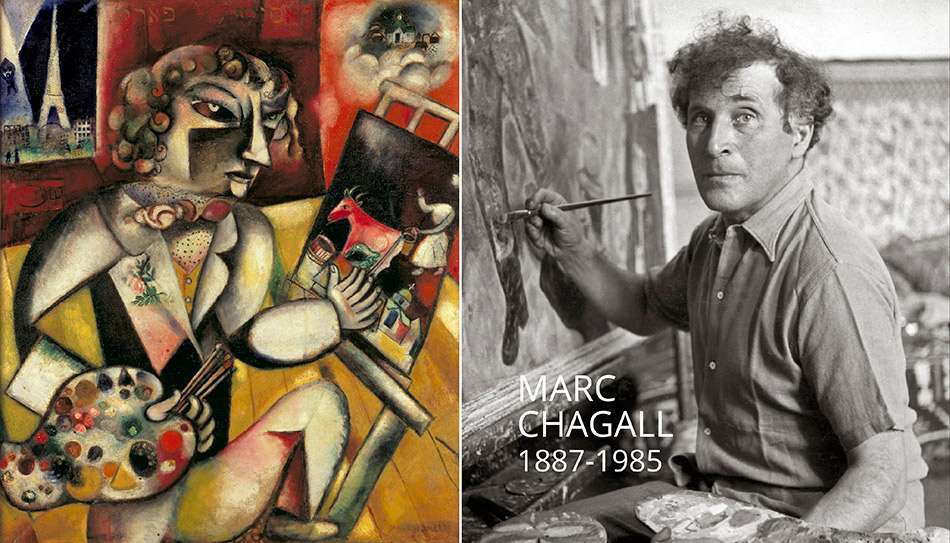lacma_chagall-fantasies-for-the-stage_chagal-painting-and-selfportrait-w