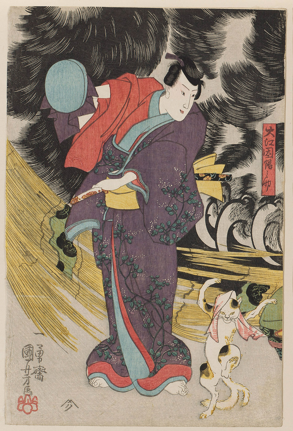 museum of fine arts boston_03-a_An-Imaginary-Scene-of-the-Origin-of-the-Cat-Stone-at-Okabe_Utagawa-Kuniyoshi_w