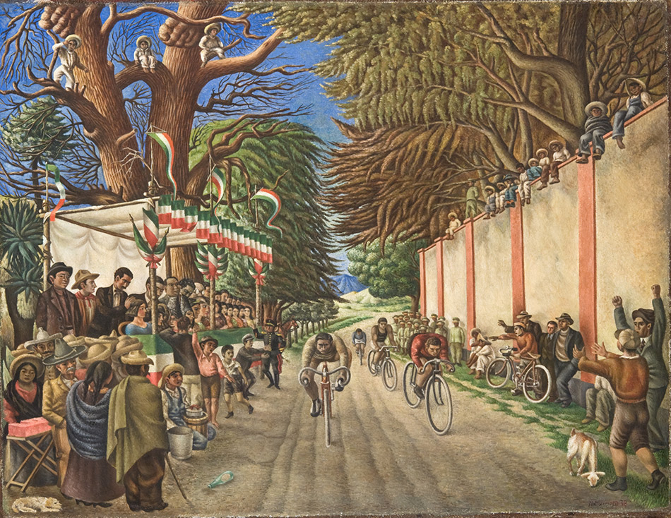 skirball-cultural-center_Antonio-Ruiz,-Bicycle-Race,-1938