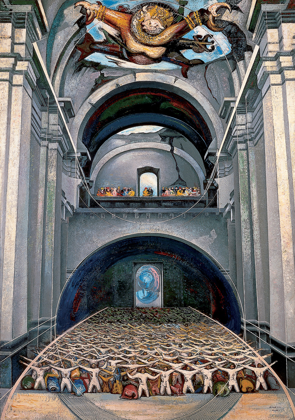 skirball-cultural-center_David-Alfaro-Siqueiros,-The-Devil-in-the-Church,-1947