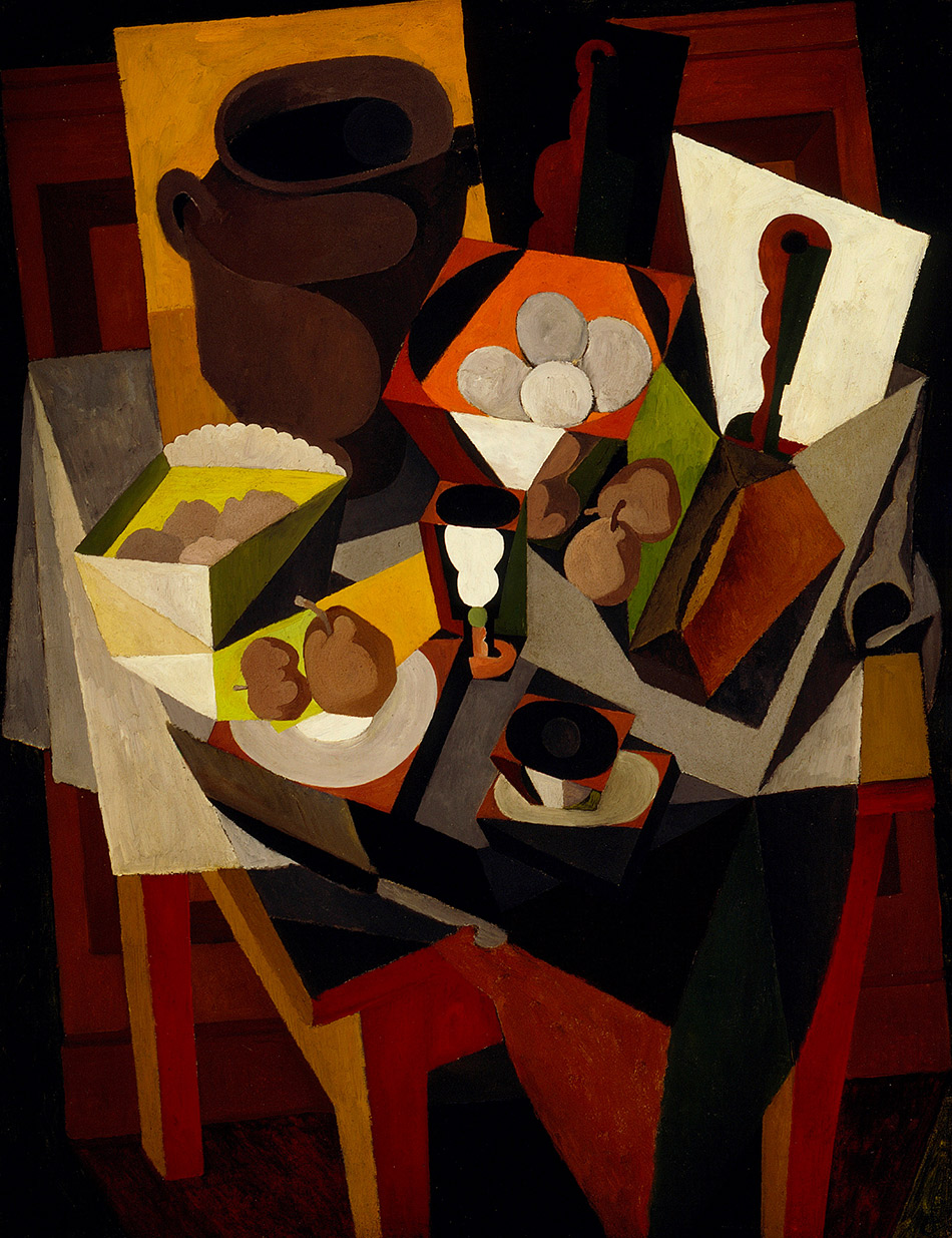 skirball-cultural-center_Diego-Rivera,-Still-Life-with-Bread-and-Fruit,-1917