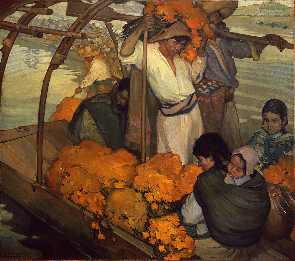 skirball-cultural-center_Saturnino-Herran,-The-Offering,-1913