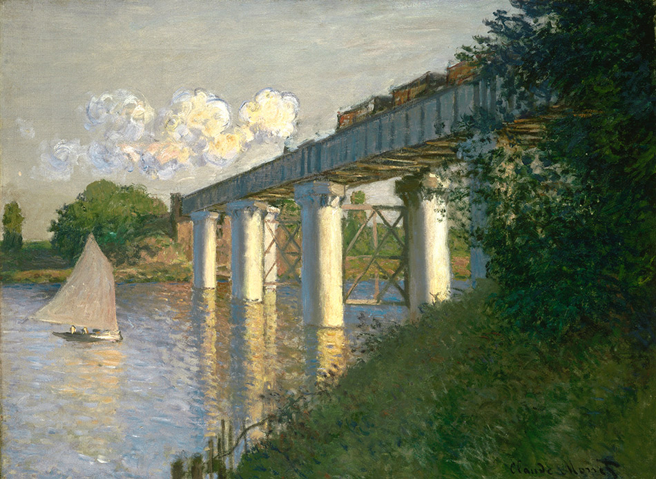 Claude-Monet_Railroad-Bridge,-Argenteuil-_Philadelphia-Museum-of-Art_w