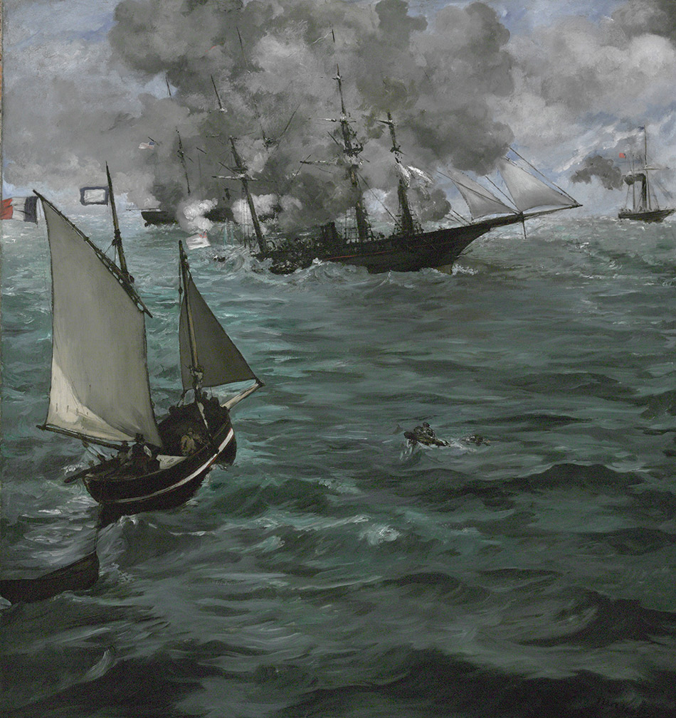Edouard-Manet-Battle-of-USS-Kearsarge-and-the-CSS-Alabama-_Philadelphia-Museum-of-Art_w