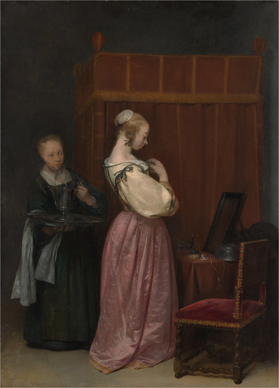 Gerard-ter-Borch_Young-Woman-at-Her-Toilet-with-a-Maid_w