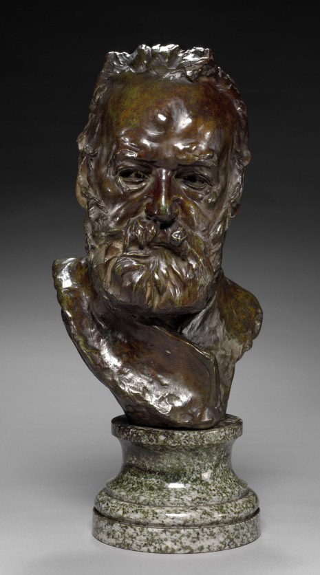 Bust-of-Victor-Hugo,-1883---modeled;-cast-by-1917