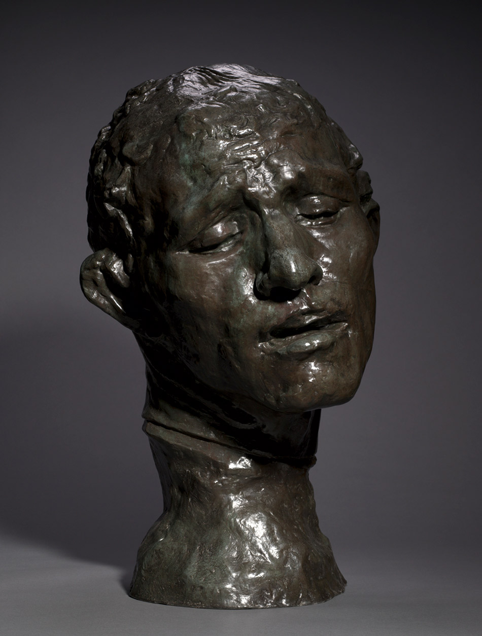 Heroic Head of Pierre de Wissant_ One of the Burghers of Calais-1886._Auguste Rodin
