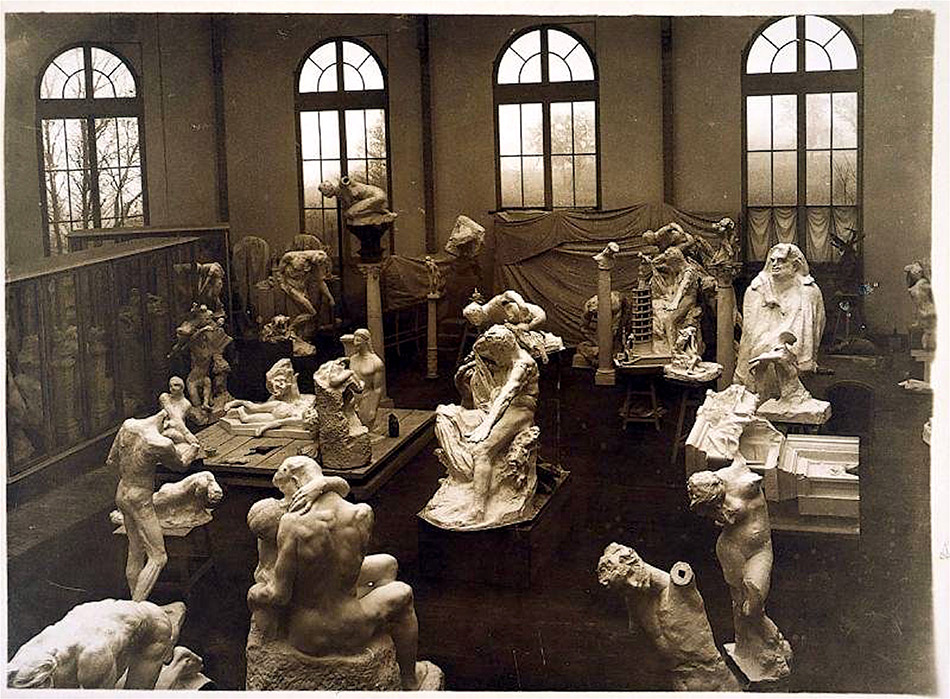 Jacques-Ernest-Bulloz-General-View-of-the-Studio-in-Meudon-foto-Musée-Rodin