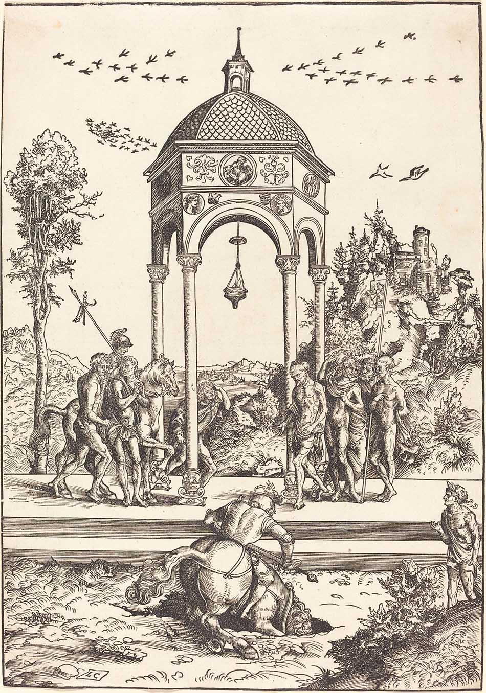 4969-033_lucas cranach the elder_marcus curtius plunging into the chasm