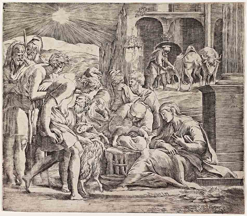 4969-061_The Adoration of the ShepherdsGian Jacopo Caraglio after Parmigianino_baja