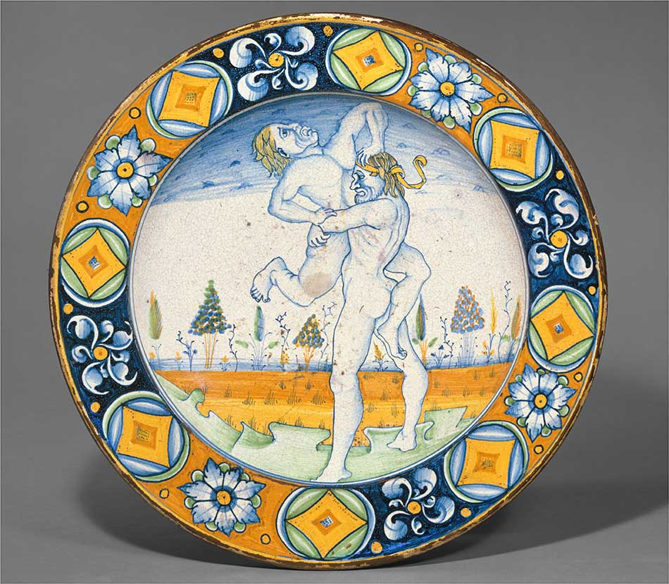 4969-064_deruta_dish with hercules and antaeus