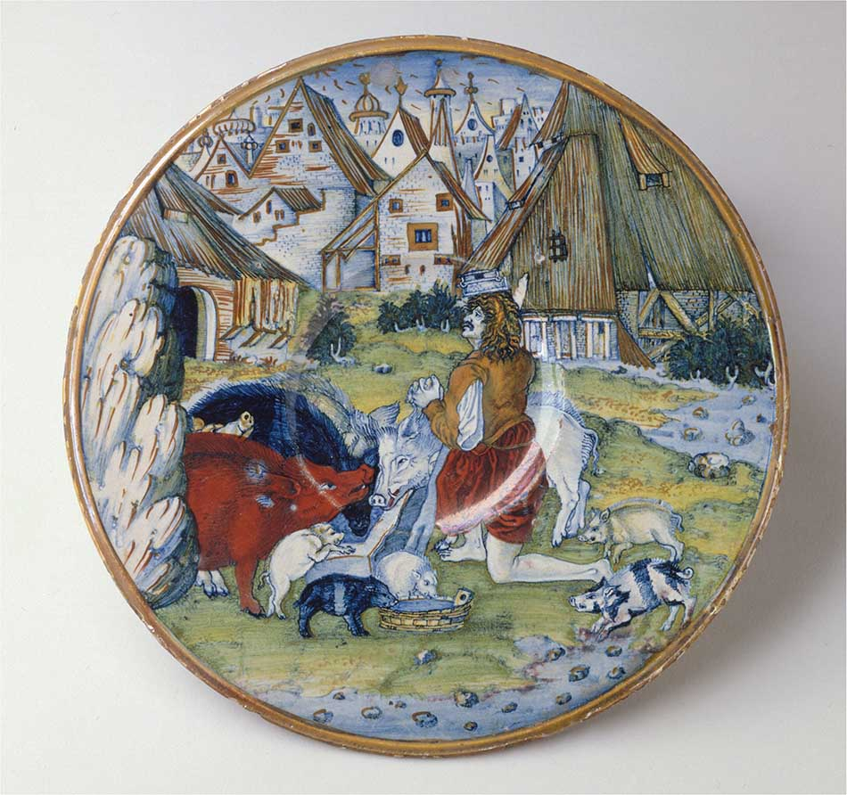 4969-066_giorgio andreoli of gubbio_dish with the prodigal son