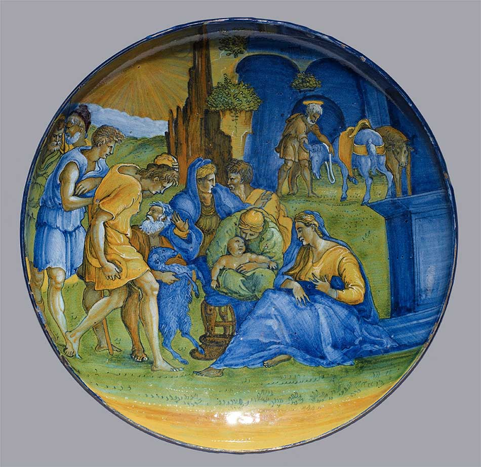 4969-082_gian jacopo caraglio_dish with the adoration of the shepherds