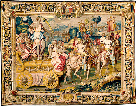 the-chariot-of-triumph-drawn-by-four-piebald-horses_also-known-as-the-golden-chariot_woven-gold_tapestries-of-louis-xvi_450_w
