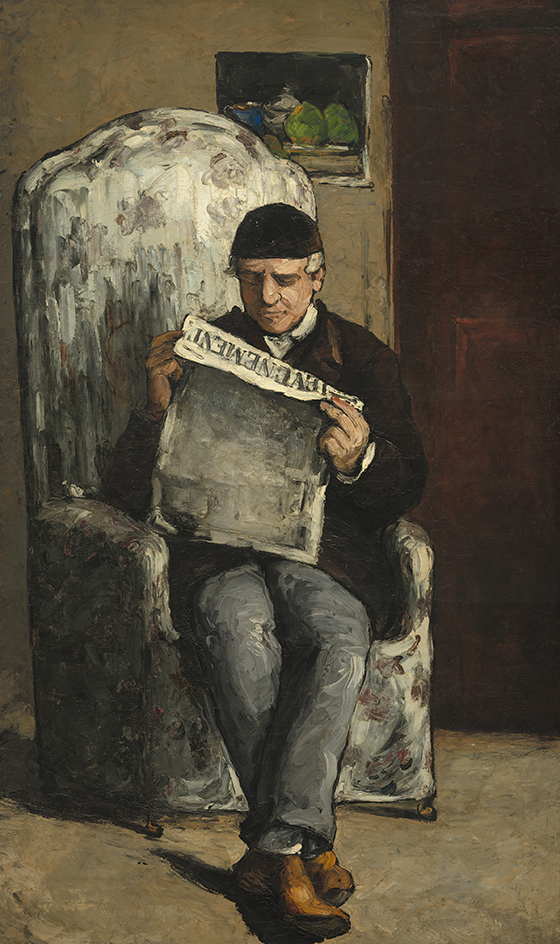 1866_Paul Cézanne_The Artist-s Father, Reading L-Événement_560