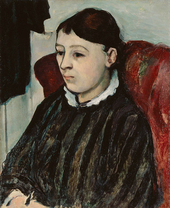1883–1885_Paul-Cézanne_Madame-Cézanne-in-a-Striped-Dress_560_w