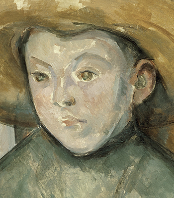 1896_Paul Cézanne_Child in a Straw Hat_350