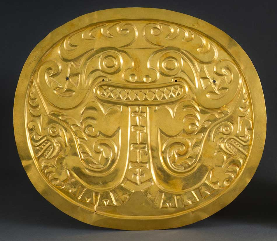 Plaque_Gold_ Coclé_ A.D. 700–900_Panama_ Sitio Conte_ Trench IV_ Grave 32_ Burial C_ Peabody Museum of Archaeology and Ethnology_ Harvard University.