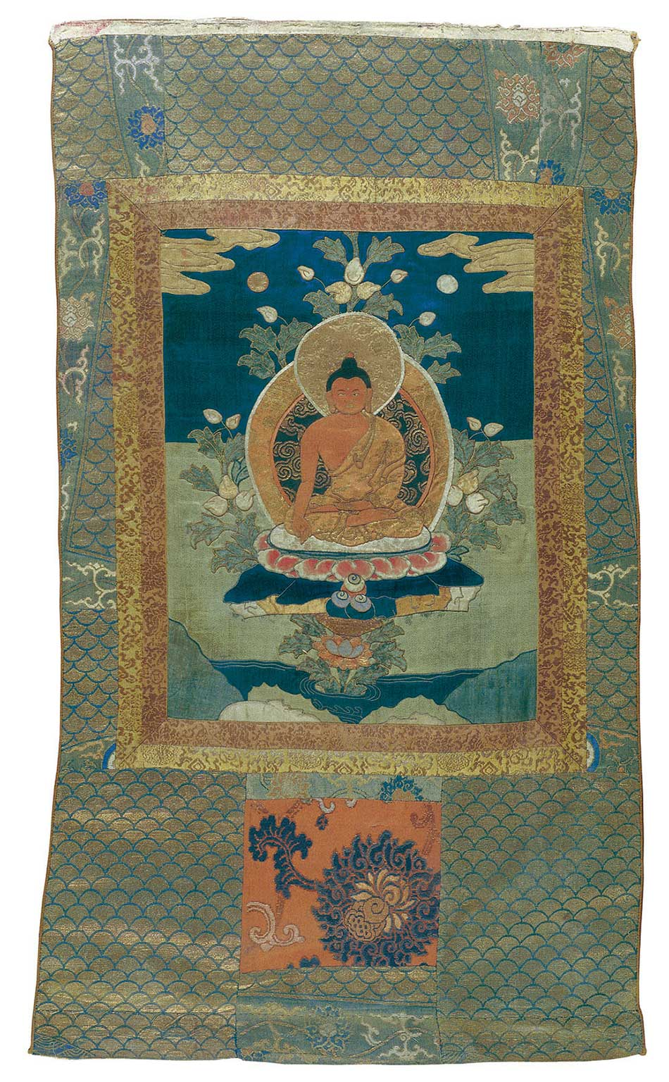 Thangka_of_Ratnasambhava_Tibet_Kimbell-Art-Museum_Sam-and-Myrna-Myers-Collection_950w