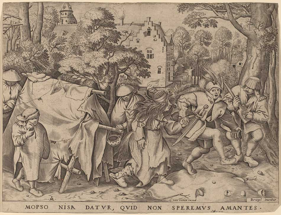 Pieter van der Heyden after Pieter Bruegel the Elder (Flemish, active c. 1551/1572 ), The Wedding of Mopsus and Nisa, in or after 1570, engraving, Rosenwald Collection