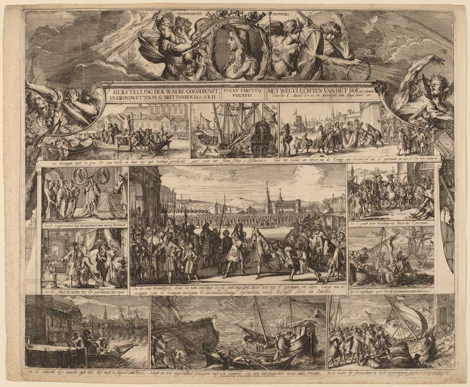 Romeyn de Hooghe (Dutch, 1645 - 1708 ), No Monarchy, No Popery, c. 1690, etching on laid paper, Ailsa Mellon Bruce Fund