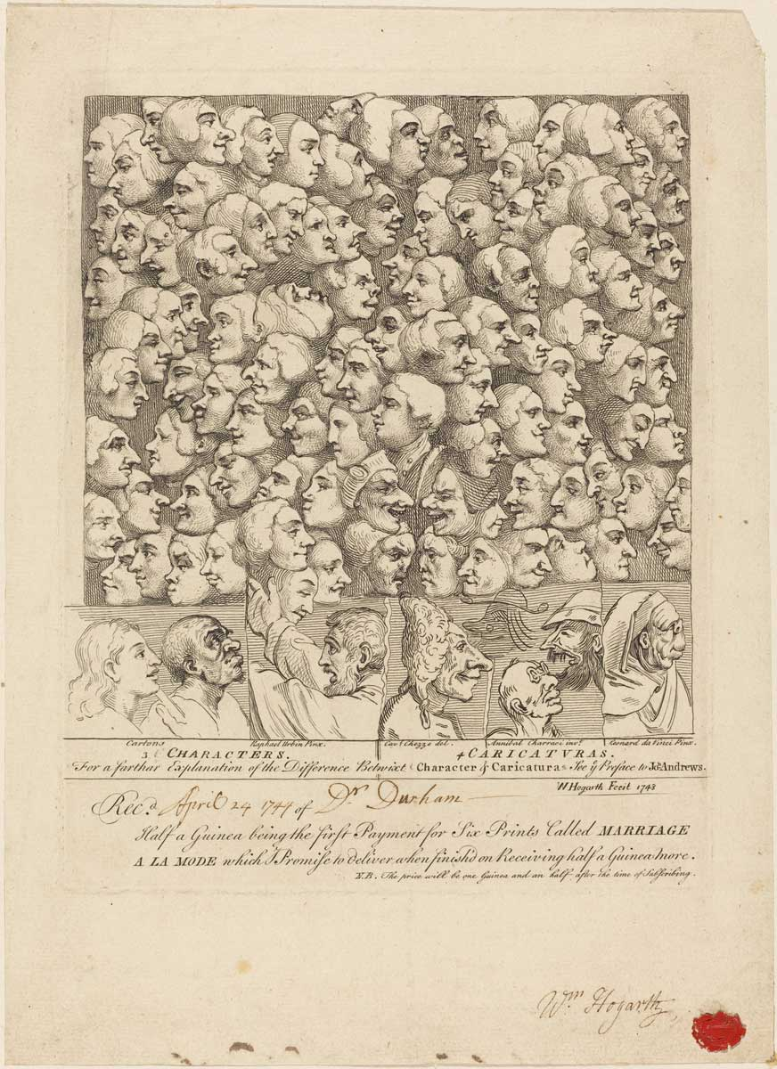 William Hogarth (English, 1697 - 1764 ), Characters and Caricaturas, 1743, etching, Rosenwald Collection 1944.5.10