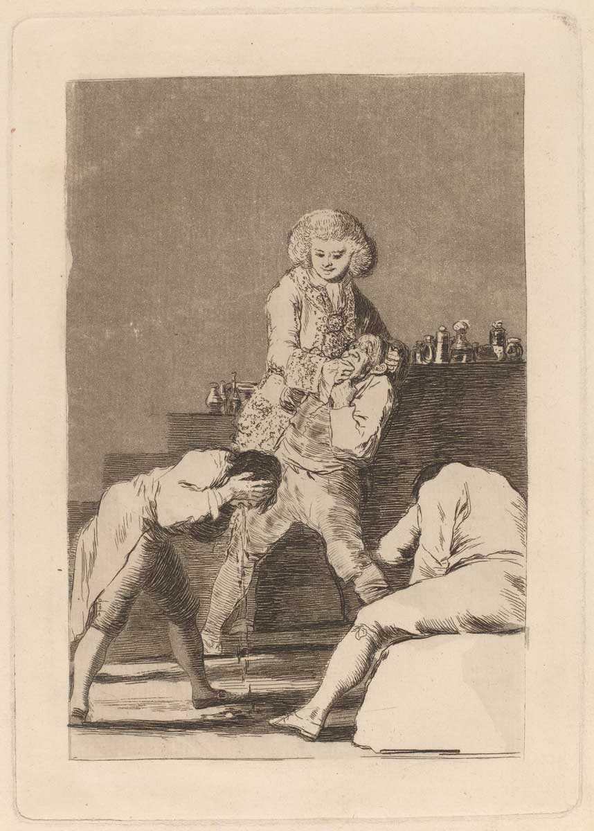 Francisco de Goya (Spanish, 1746 - 1828 ), Al Conde Palatino (To the Count Palatine), in or before 1799, etching, aquatint, drypoint and burin [working proof], Rosenwald Collection 1953.6.71