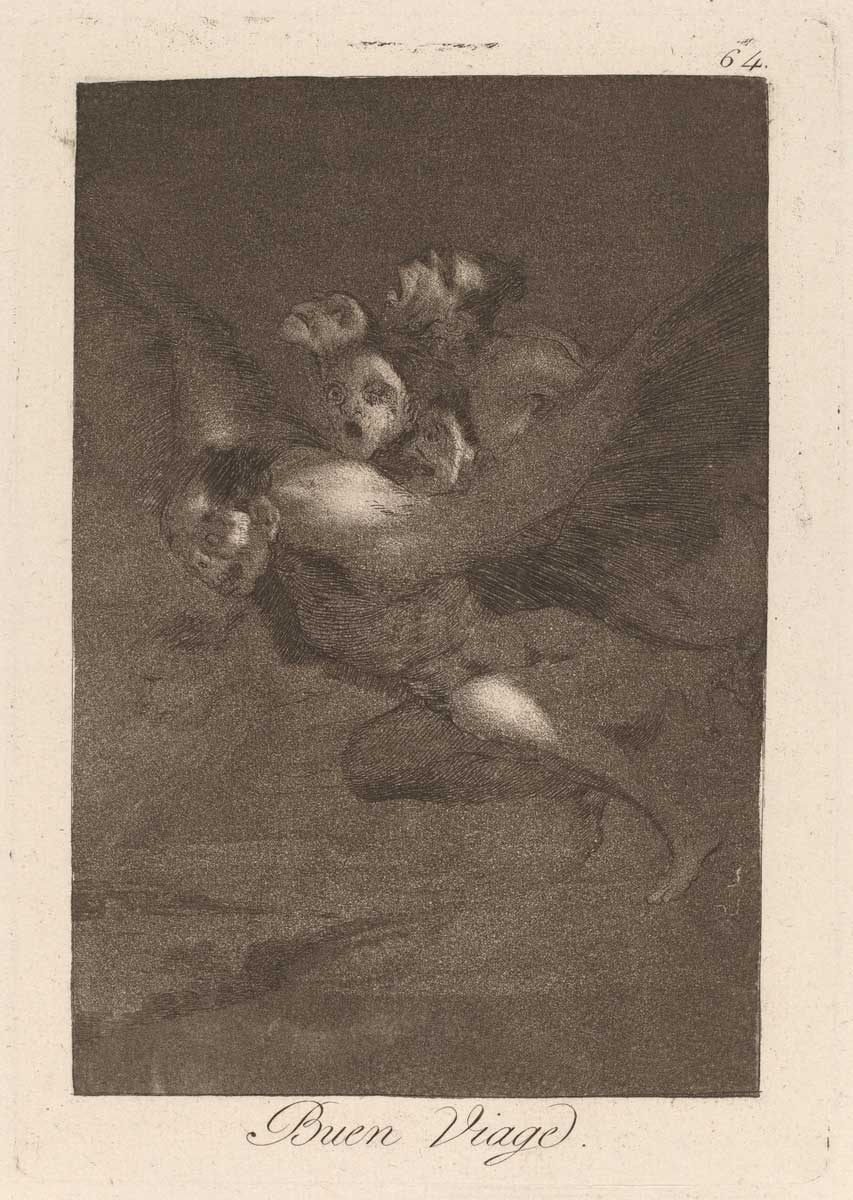 Francisco de Goya (Spanish, 1746 - 1828 ), Los caprichos: Buen Viage, published 1799, etching, burnished aquatint, and engraving on laid paper, Gift of Ruth B. Benedict 1994.60.25