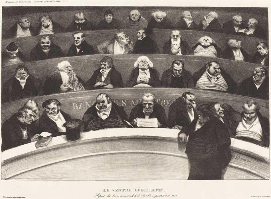 Honoré Daumier (French, 1808 - 1879), Le Ventre Législatif
