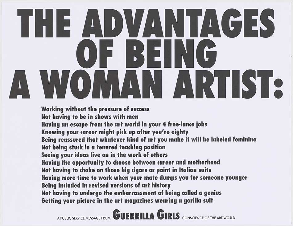 51_-Guerrilla-Girls_The-Advantages-of-Being-a-Woman-Artist,-1988