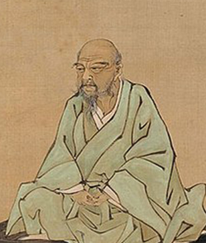 A portrait of Itō Jakuchū drawn by Kubota Beisen on the 85th anniversary of his death