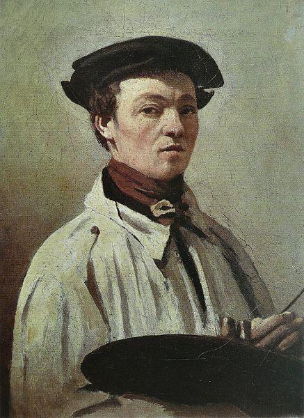 Jean-Baptiste_Camille_Corot_-_autoportrait uffizi gallery