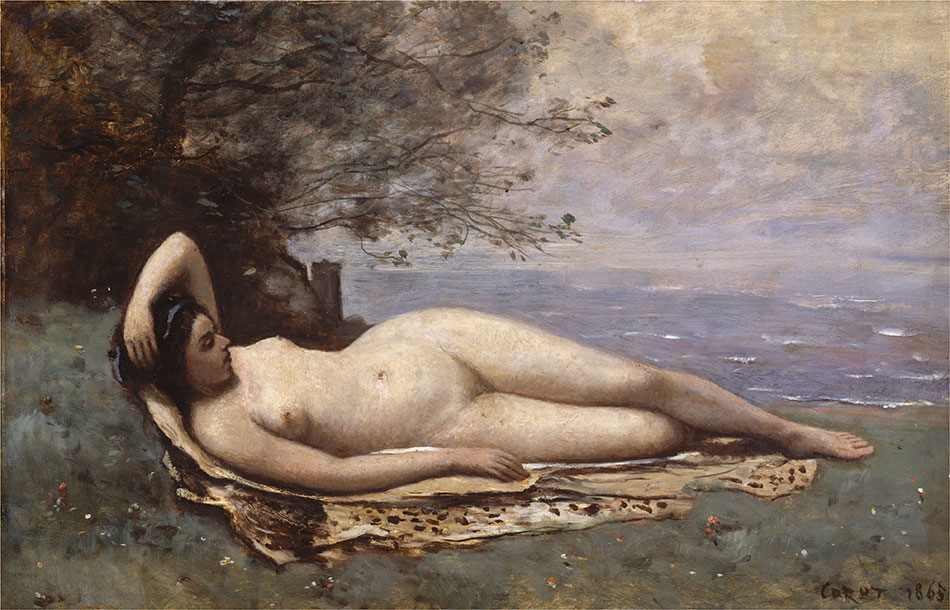 Jean-Baptiste-Camille-Corot_Bacchante-by-the-Sea-1865-