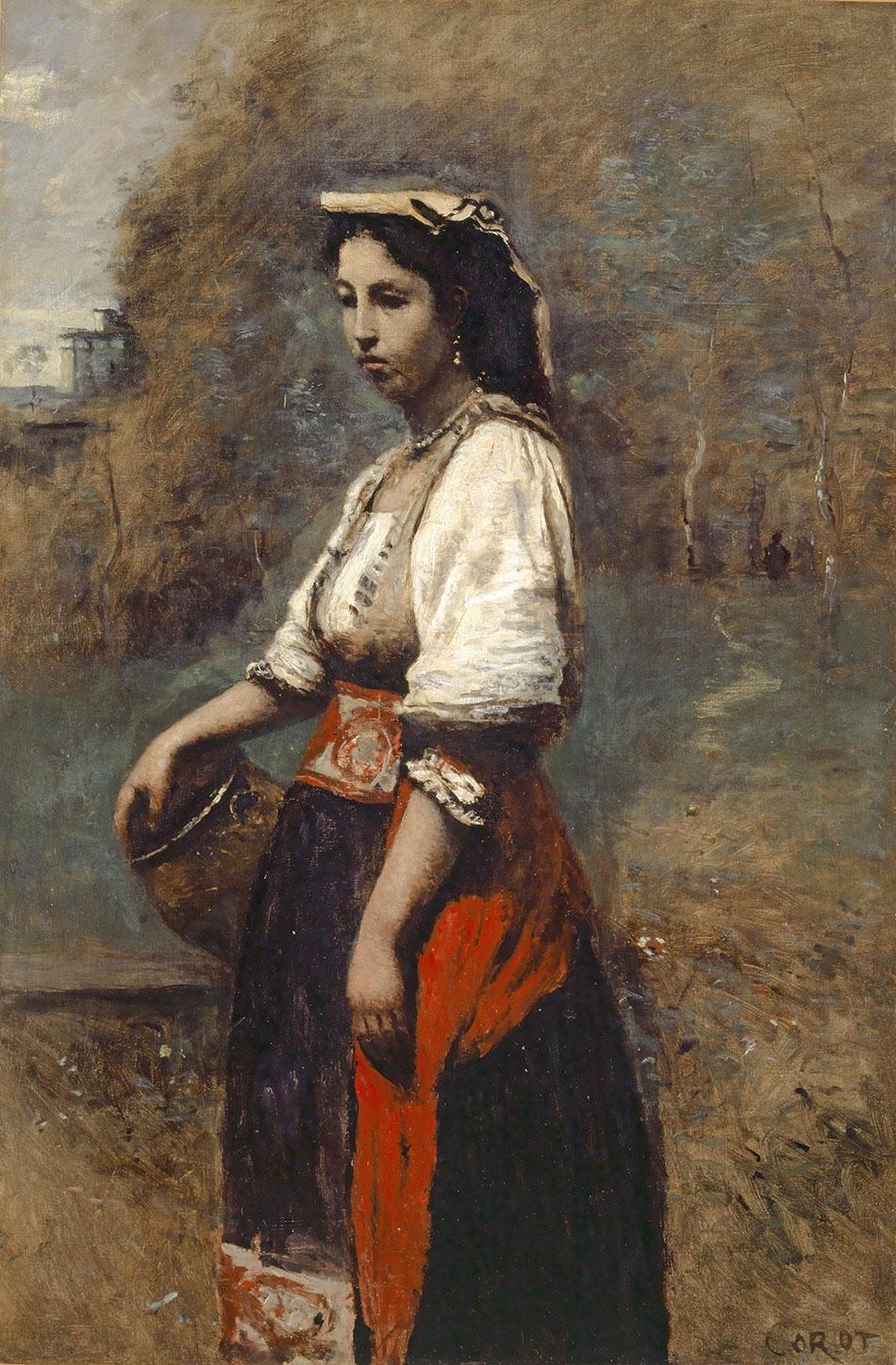 Jean-Baptiste Camille Corot; Italienne à la fontaine_ 1865/1870_950