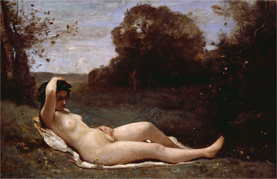 Jean-Baptiste-Camille-Corot_Nymph-Reclining_-1857-1858_950