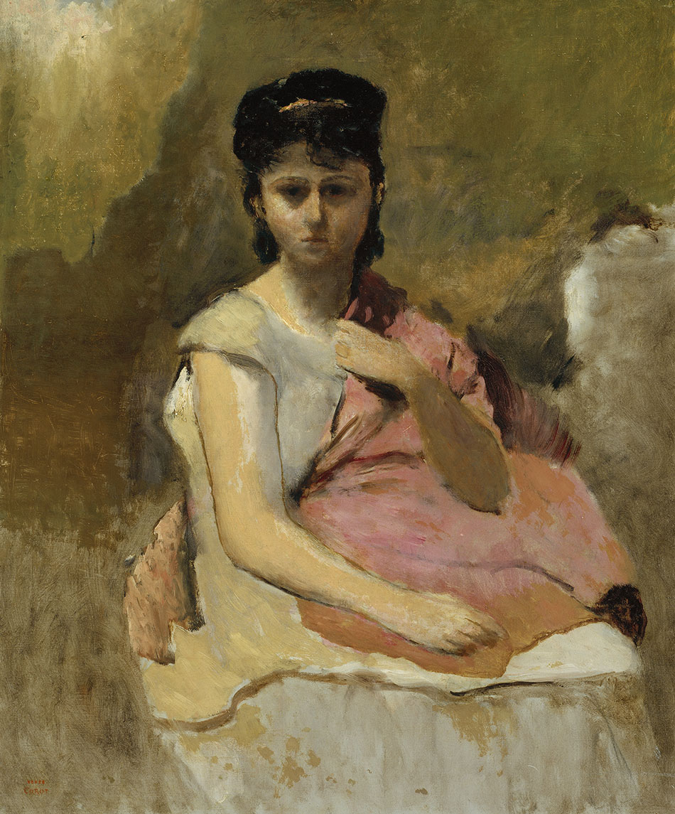 Jean-Baptiste-Camille-Corot_Woman-with-a-Pink-Shawl_c.-1865–1870_950
